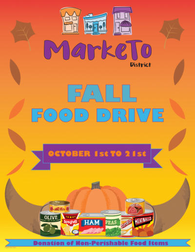 The MarkeTo District BIA has commenced its Easter Food Drive. To Donate, please visit any one of our participating community partners.  The Food Drive will run from October 1st until October 21.  Please Donate - All donations will be going to North York Harvest Food Bank.